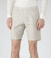 Reiss Valley Linen And Cotton Shorts