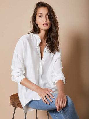 Mint Velvet Oversized Longline Shirt - Ivory