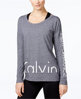Calvin Klein Logo Long-Sleeve Top