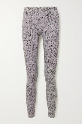 Varley Century Snake-print Stretch Leggings - Silver