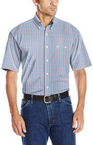 Wrangler Men's George Strait One Pocket Short Sleeve Woven Shirt