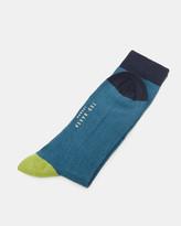 Colour-block Organic Cotton-blend Socks