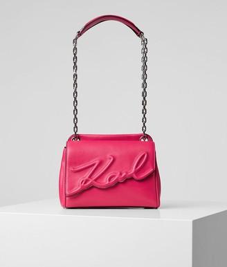 Karl Lagerfeld Paris Karla Lagerfeld K / Signature Soft shoulder bag in leather