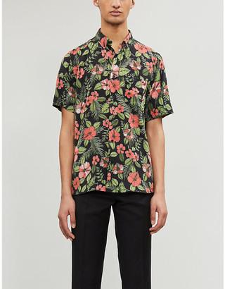 HUGO BOSS Floral-print woven shirt