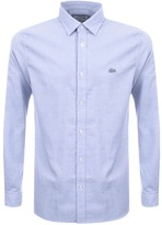 Lacoste Long Sleeved Polka Dot Shirt Blue