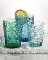 Horchow 6 Fleur-de-Lis Juice Glasses