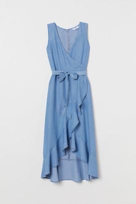 H&M Lyocell Wrap Dress - Blue