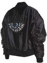 Chiara Ferragni Flirting Eye Crystal-embellished Satin Bomber Jacket