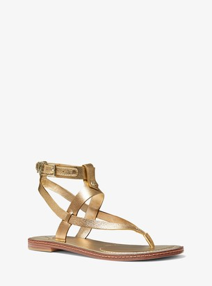 MICHAEL Michael Kors Pearson Metallic Leather Sandal