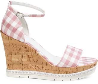 GUESS Gingham Wedge Sandal
