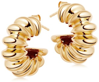 Missoma Large Ridge Claw Hoop Earrings