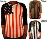 Hudson Outerwear Men's Cotton 'Flag' Henley