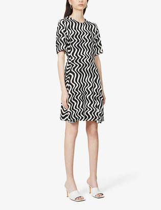 Stella McCartney Zig Zag-pattern stretch-crepe mini dress