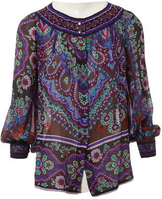 Leonard Purple Silk Tops