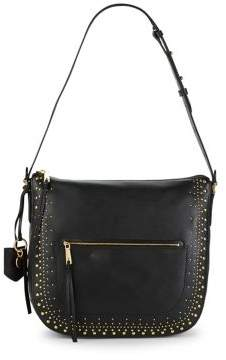Cole Haan Marli Stud Leather Hobo Bag