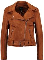 New Look BIKER Faux leather jacket tan