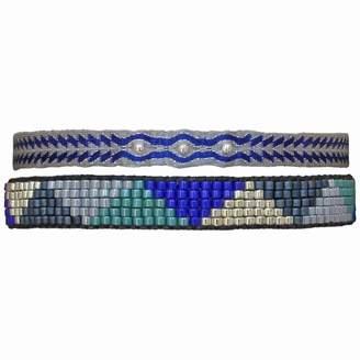 LeJu London Set Of Two Bracelets In Blue & Silver Tones