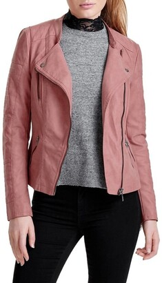 Only Ava Faux Leather Biker Jacket