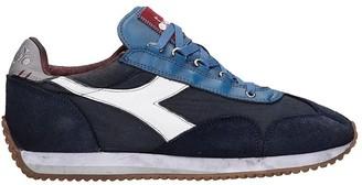 Diadora Equipe H Dirty Sneakers In Blue Nylon