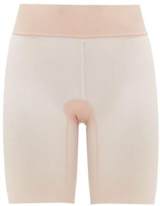 Wolford Sheer Touch Mesh Shapewear Shorts - Pink