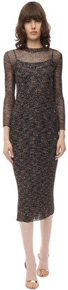 Missoni Flamed Micro Sequined Knit Midi Dress