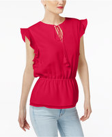 Cynthia Rowley CR By Ruffled-Sleeve Top, Created for Macy's