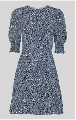 Whistles Josefina Etched Print Dress