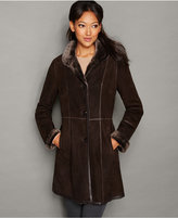 The Fur Vault Stand-Collar Shearling Lamb Coat