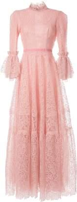 Costarellos flared lace dress