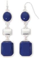 Liz Claiborne Blue Silver-Tone Drop Earrings