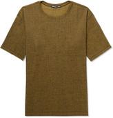 Issey Miyake Mélange Crepe-jersey T-shirt - Yellow