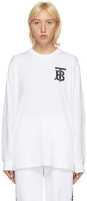 Burberry White TB Monogram Atherton Sweatshirt