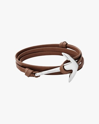 Miansai Men's Anchor Leather Bracelet