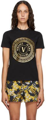 Versace Black V-Emblem Logo T-Shirt