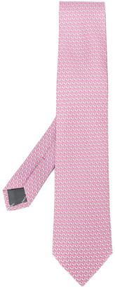 Salvatore Ferragamo Pointed Silk Tie