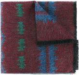 Valentino Garavani Valentino Navajo jacquard wool-cashmere scarf - men - Polyamide/Cashmere/Mohair/Wool - One Size