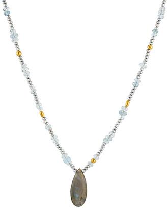 Gurhan Delicate Hue 24K 36.85 Ct. Tw. Gemstone & 2-3Mm Pearl Necklace