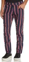 G Star Elwood X25 Regiment Stripe New Tapered Fit Jeans by Pharrell Williams