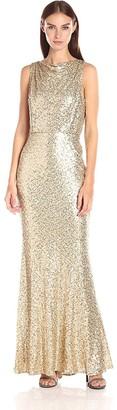 Badgley Mischka Women's Sequin Blouson Gown