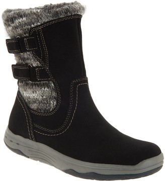 Earth Origins Suede Mid Boots with Sweater Details - Felicity