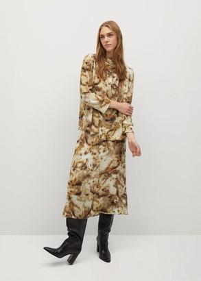 MANGO Animal print skirt