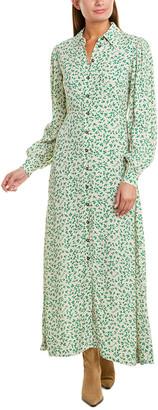Ganni Button-Down Maxi Dress