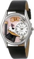 Whimsical Watches Women's S0420009 Magic Black Leather Watch