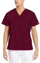 Dickies Men's Big & Tall V-Neck Scrub Double Chest Pocket Top