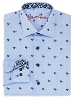 Robert Graham Boys' Tareck Sunglasses Print Dress Shirt - Big Kid