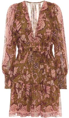 Ulla Johnson Rosetta printed silk-georgette minidress