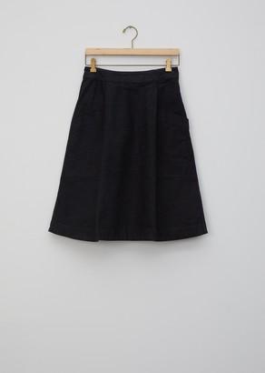 Mhl By Margaret Howell Natural Denim Side Zip Skirt