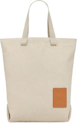 Il Bisonte Robur Patch Canvas Tote Bag