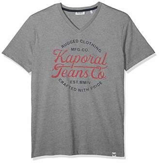 Kaporal Men's OBUCE T - Shirt, Red M11 French, L