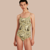 Burberry Wallpaper Print Swimsuit